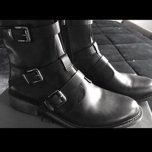 Vince Camuto Leather Buckle Monk Boot SZ 9 NIB